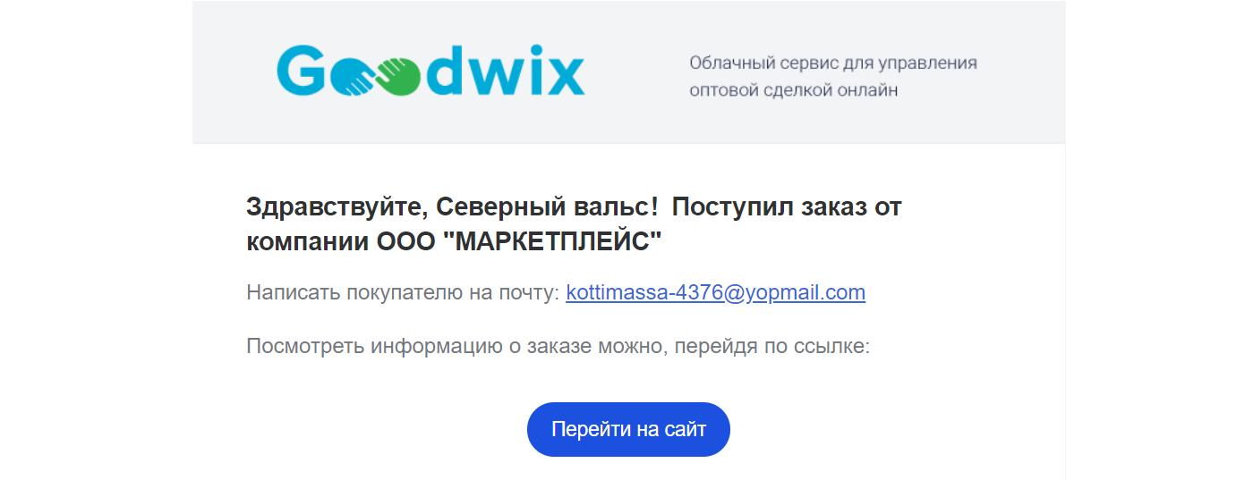 Уведомление о поступлении заказа на почту_Руководство по работе с покупателями