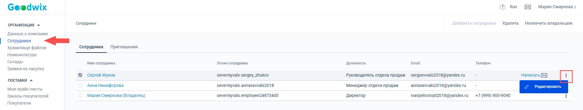 Руководство по работе с прайс-листами_Редактирование прав доступа сотрудников к прайс-листу